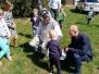 Zając Wielkanocny na plebanii
